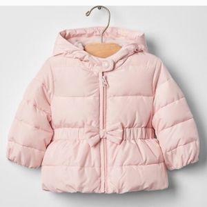 Gap pretty bow puffer jacket